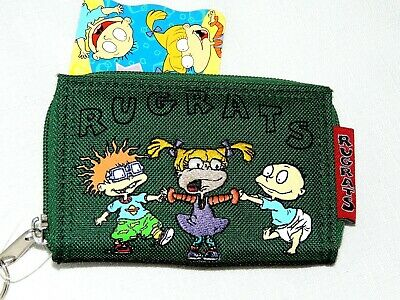 "New W/ Tags -Rugrats~~  1-Green  1999 Viacom    Coin  Wallet  4 1/2"" X 3 1/4"""