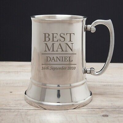 Personalised Tankards For Male Wedding Favours Thank You Gifts Presents Ideas