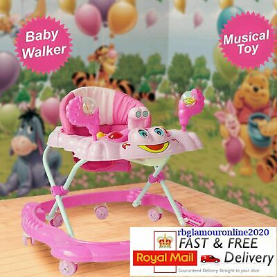 Kids Baby Walker First Step Push Along Bouncer Activity Music Ride On Car Melody
