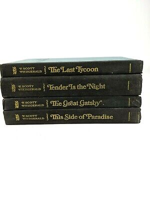 F. Scott Fitzgerald Vintage Lot of 4 Great Gatsby, Tender Night Side Paradise HC