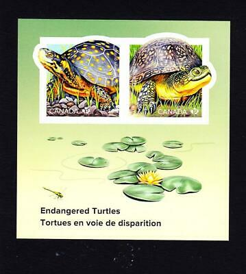 Canada Endangered Turtles, 2019 souvenir sheet of two 'P' stamps