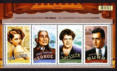 Canada MNH 2008 souvenir sheet sc# 2279 Canadians in Hollywood