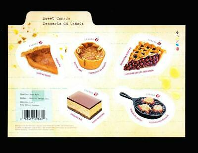 Canada 2019 Sweet Desserts, s/s of 5 'P' stamps in recipe card format