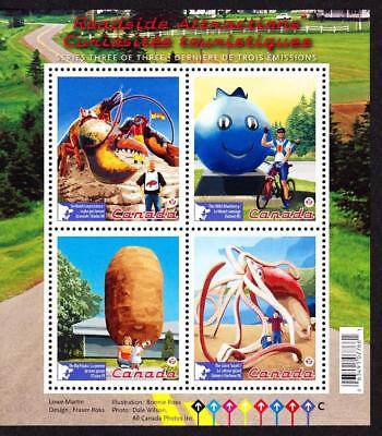 Canada MNH 2011 souvenir sheet sc# 2484 Roadside Attractions-3