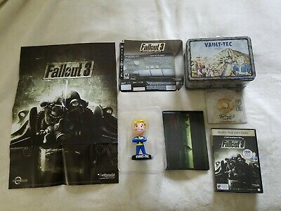 BETHESDA FALLOUT 3 collectors edition lunchbox and