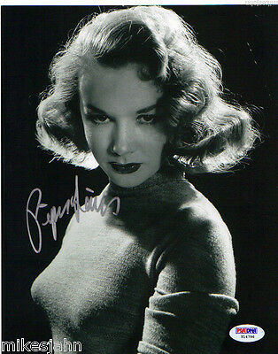 Piper Laurie Carrie Hustler Faculty Signed Autograph 8x10 Photo PSA DNA COA ms-5