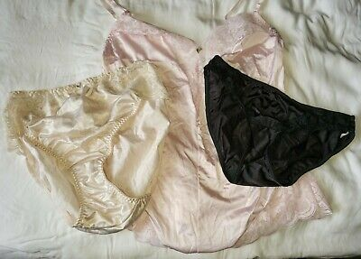 60ec27d7ae92 Vintage satin maidenform panty and teddy lot, 3 items! Chantilly, Sweet  Nothings