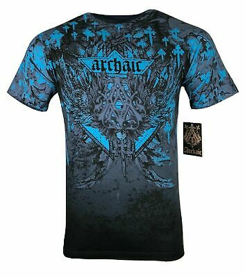 ARCHAIC by AFFLICTION Mens T-Shirt GRIFFIN Skull Wings MMA Biker GYM S-2X $40