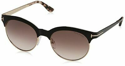 c9ed4b8bc Tom Ford Angela TF438 01F Shiny Black Frame Women's Round Sunglasses