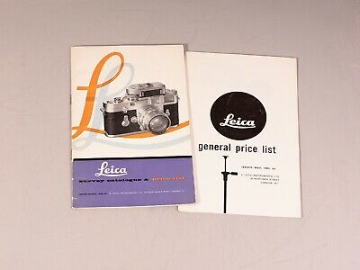 Leica Survey Catalogue and Price List 1960 + Leica General Price List 1963, RARE