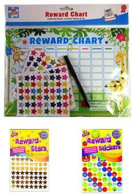 Children's Behaviour Reward Chart Star Smiley Reward Stickers Kids Preschool Fun