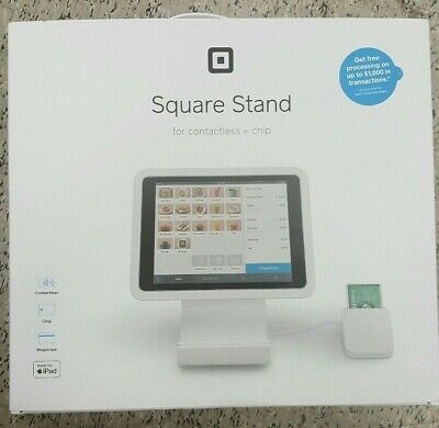 Square Stand for iPad with Contactless and Chip Reader SKU-0273-05