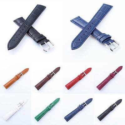 Mens Ladies Genuine Leather Watch Strap Band Colour Collection Sizes 12mm - 24mm