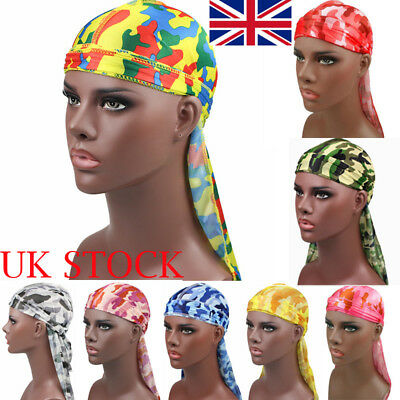 Unisex Men Women Breathable Bandana Hat Velvet Durag Long Headwrap Chemo Cap