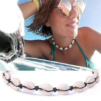 Fashion Women Shell Beads Chokers Adjustable Rope Necklace Summer Beach Jewelry
