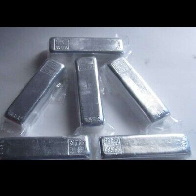 Indium Metal Ingot 99.99% High Pure Crystals Geodes For Indium Crystals 100g