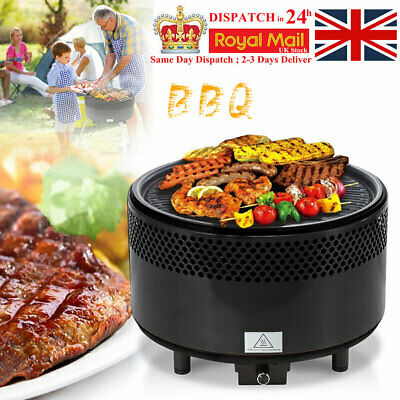 Charcoal Grill Portable BBQ Outdoor Backyard Grilling Smokeless Barbecue Roast