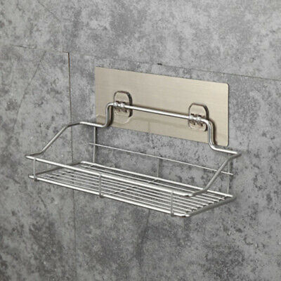 Stainless Steel Bathroom Shelf Shower Wall Mounted Storage Holder Rack Organizer
