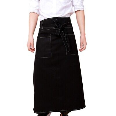 Unisex Apron Men Denim Work Pinafore Ladies Wear-resistant Chef Bib Restaurant