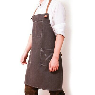 Unisex Apron Men Washable Bookstore Apron Stylish Restaurant Pinafore Work Wear