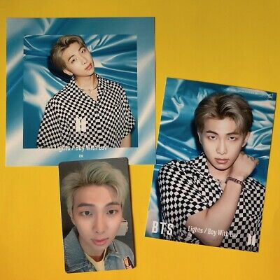BTS RM Changing & Photo & Photocard Set Lights/Boy With Luv Japan Official