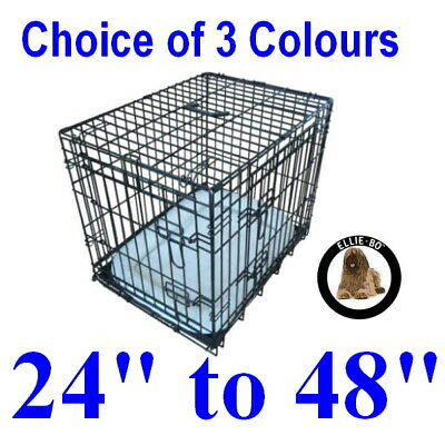 Ellie-Bo Dog Cages - 5 sizes - 3 colours - 2 designs - small, medium, large, XL