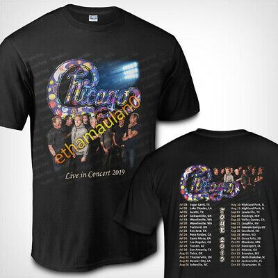 Chicago Band Live in Concert 2019 Short Long Sleeve T shirt S to 3XL MEN'S