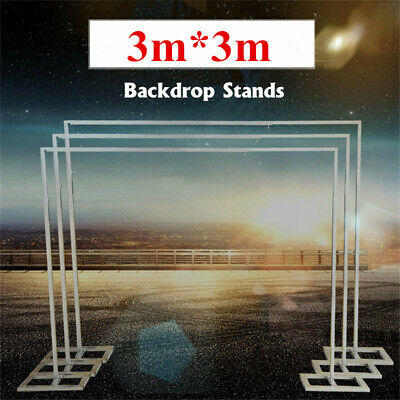 3M*3M Adjustable Telescopic Pipe Drape Wedding Curtain Backdrop Stand Support AU