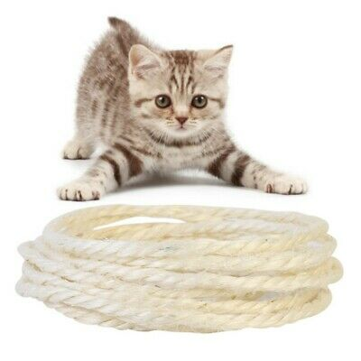 Pet Cat Scratch Board Cat Claw Sisal Rope for Cat Scratching Post Toy 3/5M DIY