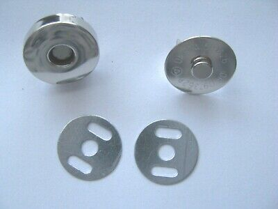 18mm Magnetic Fastener Clasp Catch Fastening Clip Round Silver Colour Bag Purse