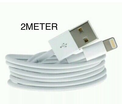 2m USB Lightning Cable Cord Data for Apple Charger iPhone iPad 6 X 8 7 5