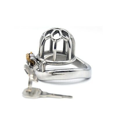 Male Small Chastity Cage Men's Stainless Steel Locking Belt Removable Tube CC218