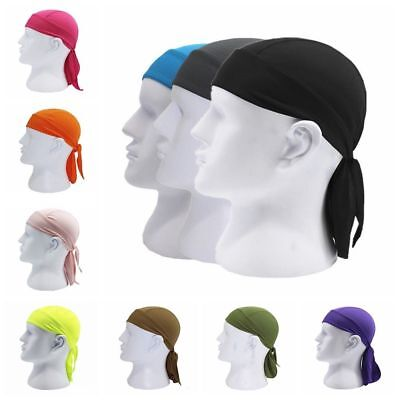 SKULL CAP Du Rag Head Wrap Motorcycle Biker Do Doo Bandana Adjustable Quick Dry