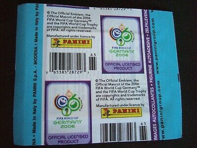 panini world cup 2006 germany 1 packet of stickers canadian barcode version