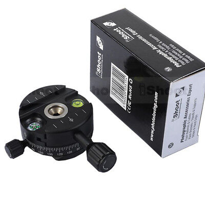 360° Panoramic Head for Arca-Swiss Camera Tripod Ball Head & Quick Release Plate