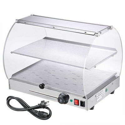 Commercial Food Warmer Display Case Hot Food Heated Cabinet Pastry Pizza Pie