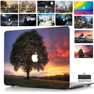 """Snap On PC Case For Appe MacBook 12"""" 13"""" 15"""" Protective Cover Keyboard SKin SU"""