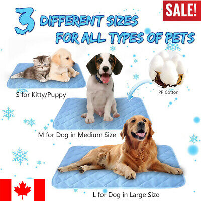 CA Dog Cooling Mat Pet Cat Chilly Non-Toxic Summer Cool Bed Pad Cushion Indoor