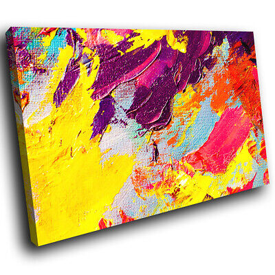 Retro Cool Colourful Abstract Canvas Wall Art Large Picture Prints