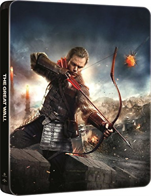 The Great Wall 3D+2D Steelbook (UK IMPORT) BLU-RAY NEW