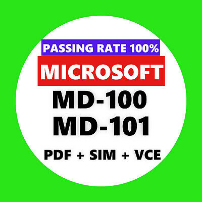 Microsoft MD-100 MD-101 EXAM Test PDF & Sim
