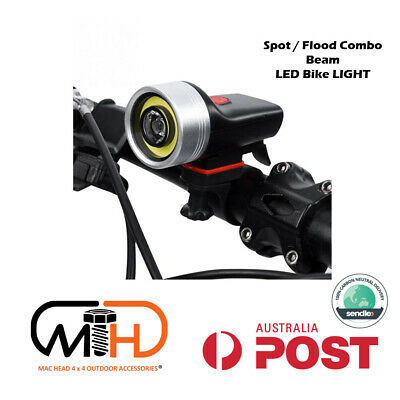 Waterproof Cree LED USB Rechargeable Bike Head Light Front Lamp IPX4 Bicycle