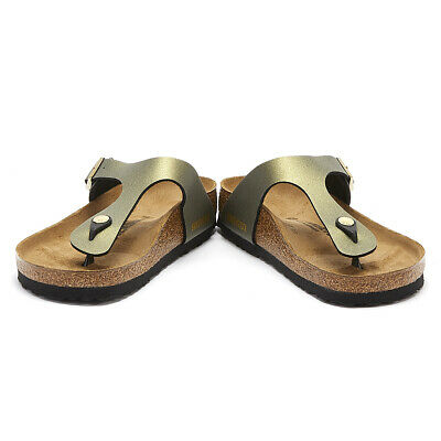 the best attitude e0828 b4c91 BIRKENSTOCK GIZEH WOMENS Icy Metallic Stone Gold Sandals Ladies Summer Shoes