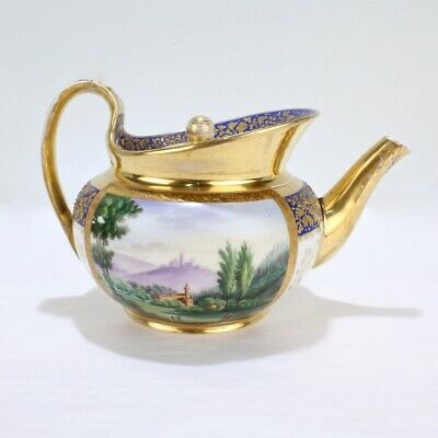 Antique 19th Century Gardner Moscow Imperial Russian Porcelain Teapot - PC