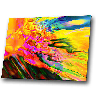 Colourful Funky Retro Cool Abstract Canvas Wall Art Large Picture Prints