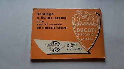 Ducati 98 Turismo Lusso 1958 catalogo ricambi originale spare parts catalogue
