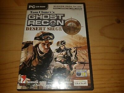 Tom Clancy's Ghost Recon - Desert Siege Mission Pack Add-On PC DVD Rom Game VGC