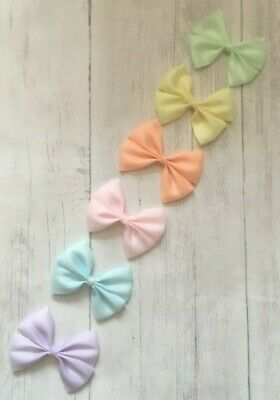 UK Seller  Pastel Pinch Bow Girl Hair Clip Baby Summer 3.5 inch Handmade