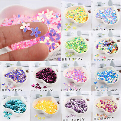 New 350 Pcs 10mm Flower Sequins Craft Paillette Sewing DIY Loose Flat Resin Bead
