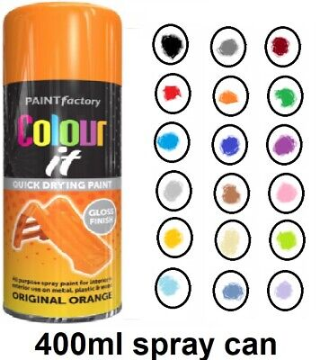 Professional Quality Quick Dry  Paint Spray Can Bottle Gloss Or Mat Finish 400Ml